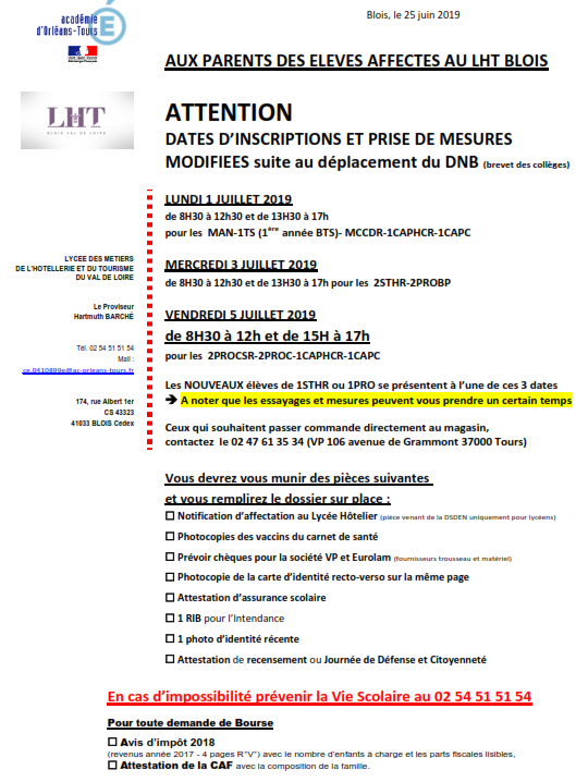 Dates modifiées le 25/6/2019